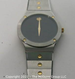 """Vintage Movado """"The Museum Watch"""" 84-42-876 in Box with Certificate (untested)"""
