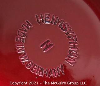 Vintage Red Heimsyphon Siphon Bottle Model H Made in West Germany