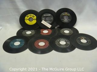Vinyl Record: 45rpm: Various (10) 50's pop