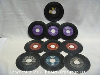 Vinyl Record: 45rpm: Various (10) 50's pop Bands and Stars