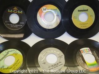 Vinyl Record: 45rpm: Various (9) 60's pop  Male artists - Orbison
