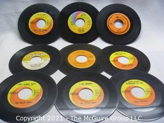 Vinyl Record: 45rpm: Various (9) 60's pop  various artists - Beach Boys