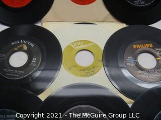 Vinyl Record: 45rpm: Various (9) 60's pop  various artists - Simon & Garfunkle