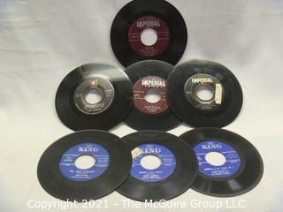 Vinyl Record: 45rpm: Various (7) 60's pop/rock  Soul Fats Domino