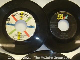 Vinyl Record: 45rpm: Various (7) 60's pop  Novelty Monster Mash