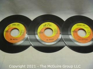 Vinyl Record: 45rpm: Various (8) 60's pop/rock  Beatles Tollie