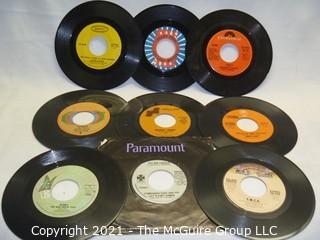 Vinyl Record: 45rpm: Various (9) 70's pop  various artists -  YMCA  Queen