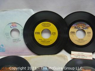 Vinyl Record: 45rpm: Various (9) 70's pop  various artists -  Donna Summers
