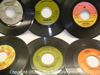 Vinyl Record: 45rpm: Various (9) 70's pop  various artists -  Janis Joplin
