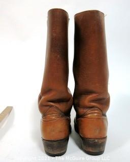 Vintage Men's Brown Leather Frye Boots, Size 8 1/2,