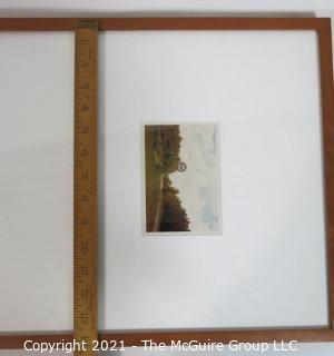 """Framed Under Glass """"Pure Oil Sign in Landscape, 1977"""" by William Christenberry.  Printed in 1992 in Special Edition of Twelve."""
