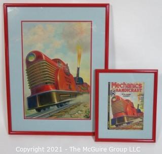 "Original ""Mock Up"" Magazine Cover Art by Joseph Pignone for the June 1936 Edition of Mechanics and Handicraft.  This is paired with the actual framed magazine cover for which it was created. Original oil painting signed by artist and framed under glass, measures approximately 20 x 26"".  The magazine cover is framed under glass and measures approximately 12 x 14 1/2"". <br> <br> Mechanics and Handicraft was a 1930's popular-science and make-it-yourself magazine, with designs of the future, it was absorbed into Popular Science Monthly with the March, 1939 issue.  Joseph Pignone was a designer, engineer, painter, illustrator and inventor. See profile about the artist in the photo gallery."