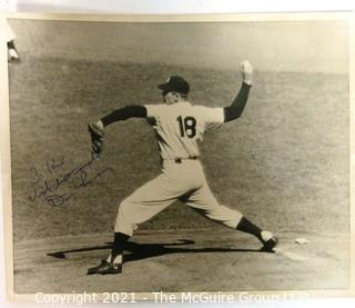 "Baseball collectable: 8 x 10"" Black & White Photo of Yankee Pitcher Don Larsen, autographed to ""Rick"" (TMG consignor)"