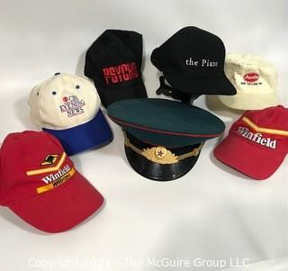 Hats including Formula One Williams Racing Team and USSR Military.