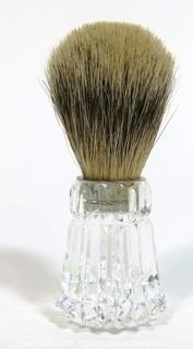 Waterford Cut Crystal Shaving Brush with Badger Hair