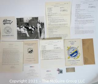 Military Ephemera Including Change of Command Ceremonies for USS Rushmore and USS Ogden