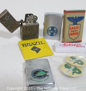 Selection of vintage cigarette lighters