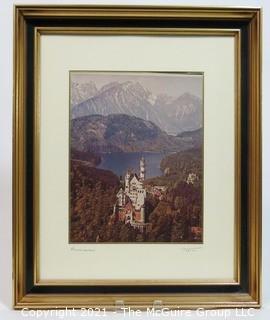 Framed photo of Neuschwanstein Castle Bavaria