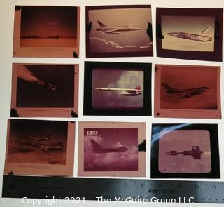 Selection of 9 positive 3x4 color film of vintage aircraft from the holdings of a noted aeronautic author.