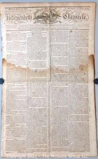 Independent Chronicle Newspaper (Boston, Mass.), circa 1805. Major letter to the country by Thomas Paine (1737-1809)