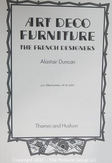 """1984 Edition of """"Art Deco Furniture. The French designers"""" by Alistair Duncan."""