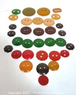 Group of Bakelite Buttons and Buckles