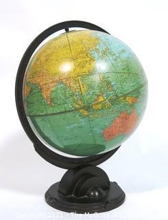 Vintage Replogle World Globe on Stand.