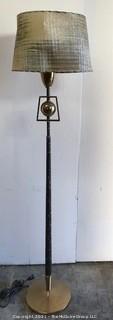 Mid Century Modern (MCM) Atomic Floor Lamp with Original Custom Made Fiberglass Lamp Shade.