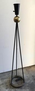 Vintage 1940's Mid Century Modern Atomic Tripod Floor Lamp, possibly by Walter Von Nessen .