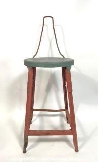Industrial Steel Work Stool or Chair.