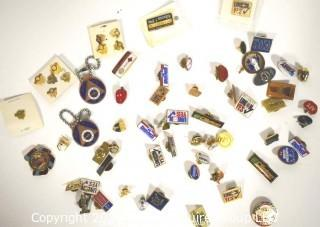 Large Collection of Metal Union Pin Backs.