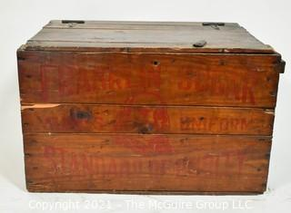 "Antique Franklin Sugar Refining Co Philadelphia Wooden Advertising Crate.  It measures approximately 23"" x 15"" x 14""."