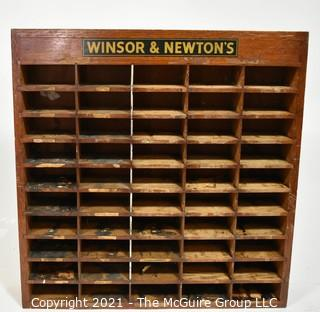 Vintage Wooden Winsor & Newton's (paints) Advertising Display Stand.