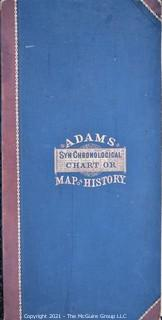 Victorian Adams' Synchronological Chart Or Map of History