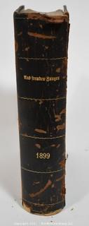 """1899 Leather Bound Book in German """"Aus Fremden Jungen"""""""