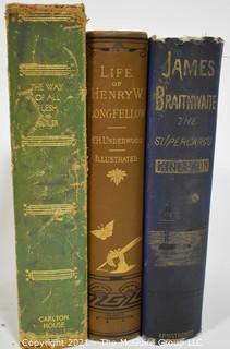 Collection of 3 hardback 19th c books; some illustrated