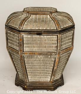 Wicker Laundry Basket.
