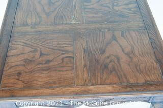 Vintage Henredon Country French Square Walnut Side Accent Table.  Measures approximately 28ʺW × 28ʺD × 26ʺH  .