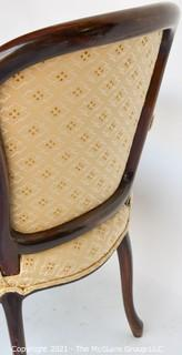Yellow Upholstered French Provincial  Arm Chair