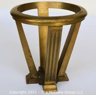 "Heavy Bronze Architectural Floor Stand; 12"" wide at rim x 13"" tall"