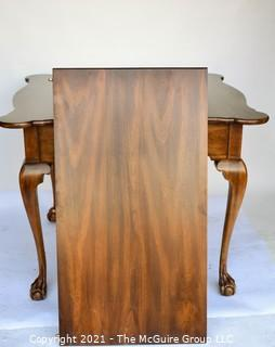 "Walnut Queen Anne Style Cabriole Leg Table with Paw Feet; 36 x 36 x 30""T"