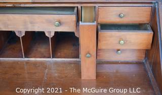 """Antique Chippendale Secretary Drop Down Slant Front Desk; 39"""" wide x 41"""" tall"""