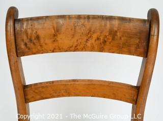 Birdseye Maple Side Chair with Upholstered Seat.