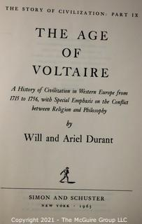 The Story of Civilization (9 volume set), by Will Durant