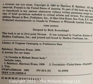 """Signed Copy of Katherine Graham's Autobiography """"Personal History"""" and other Books."""