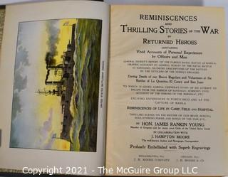 2 Hard Cover Books on the Civil Ware: Loudoun County and the Civil War  by Divine & Others & Reminiscences and Thrilling Stories of the War By Returned Heroes by James Rankin Young.