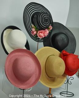 Group of 6 Straw Hats, Some New with Tags.