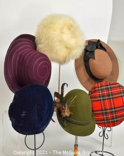 Group of Wool and Fur Hats