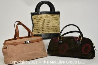 Three (3) Handbags: Obsession, Coloris and Furla.