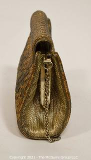 Woven Mixed Metal Clutch or Handbag by Artistic Bombay